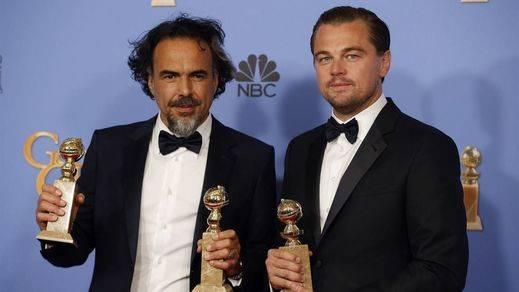 'El renacido', Iñarritu y Di Caprio presentan su candidatura para los Oscar en los Globos de Oro