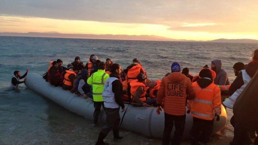 Bomberos voluntarios en Lesbos