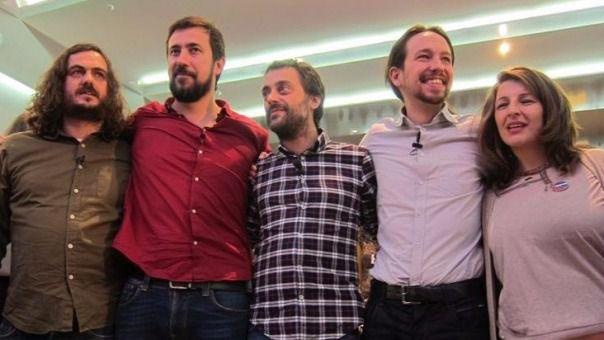 Pablo Iglesias y diputados de En Marea