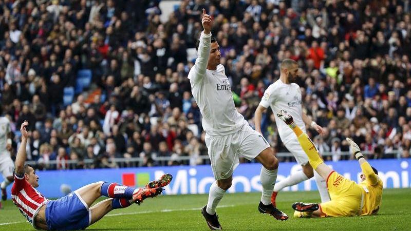 El 'efecto Zidane' también se lleva por delante al Sporting (5-1) pero se cobra las lesiones de Bale y Benzema
