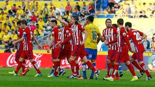 Partido a partido... el Atlético se postula al título: tres zarpazos en el Insular (0-3)