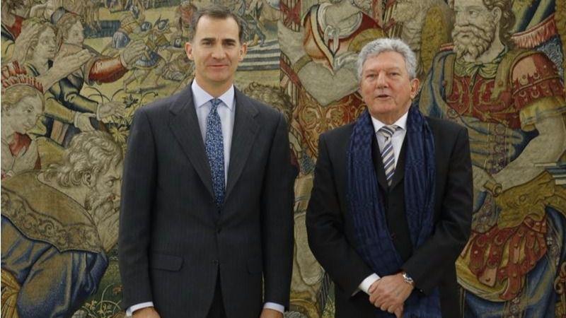 Rey Felipe VI y Pedro Quevedo (Nueva Canarias)