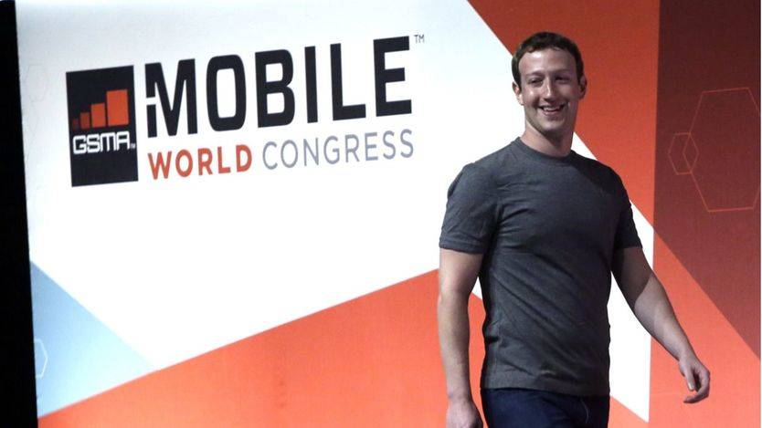 El fundador de facebook, Mark Zuckenberg, durante la pasada edición del MWC