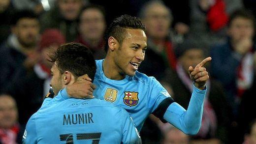 El campeón de Copa no quiere sorpresas: sin Messi ni Suárez también gana en San Mamés (1-2)