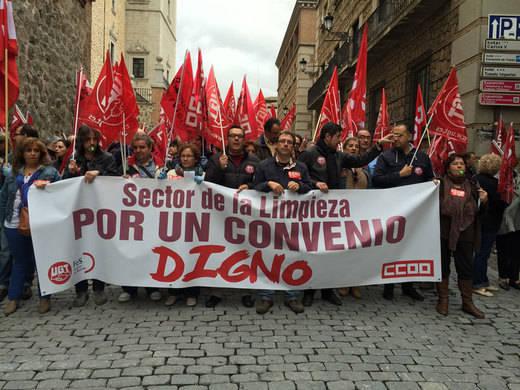 Un preacuerdo entre sindicatos y patronal en el sector limpieza de Toledo anula la huelga general