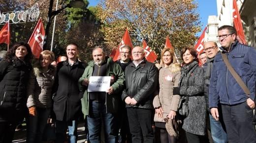 El PSOE reclama al Gobierno de Rajoy la finalización de la A-32 en todos sus tramos