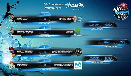 Sorteados los cruces de cuartos de final de la Copa del Rey de baloncesto: ¡Madrid-Estudiantes!