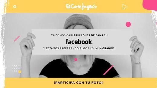 El Corte Inglés celebrará sus 2 millones de fans en Facebook