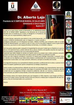 El doctor Alberto Lajo Rivera presenta el VI Simposium Mundial de Salud