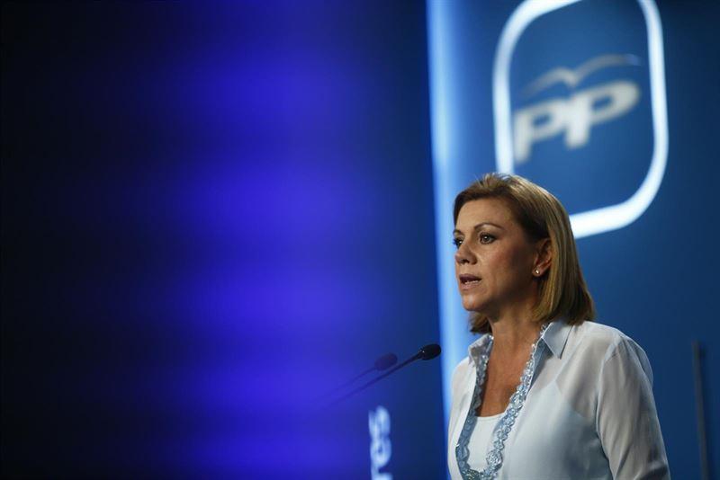 Cospedal apela a la fuerza de la marca PP y pide 'pelear' para ganar las generales