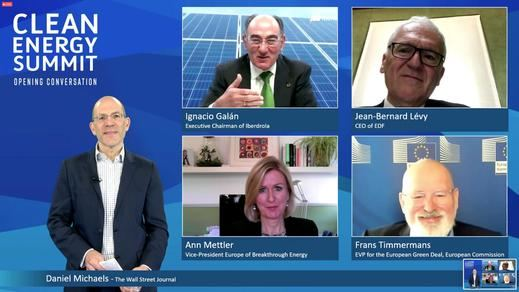 Ignacio Galán reivindica el liderazgo de Europa en la reactivación verde de la industria y del empleo
