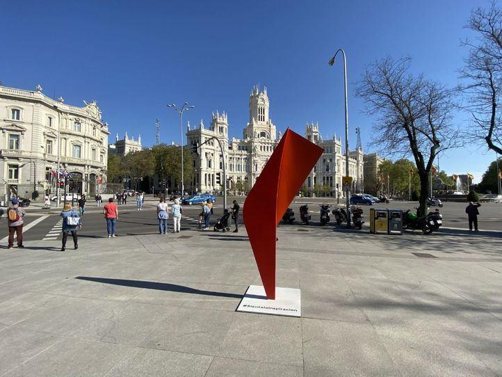 Esculturas en la plaza de Callao y el Paseo de Recoletos