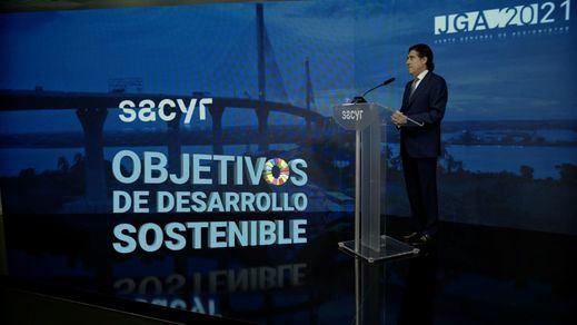 El presidente de Sacyr, Manuel Manrique, en la Junta General de Accionistas