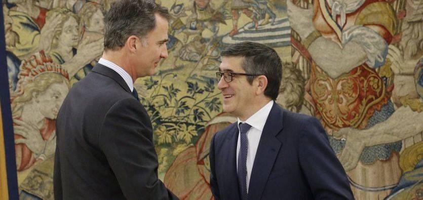 Rey Felipe VI y Patxi López