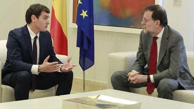 Reunión de Albert Rivera y Mariano Rajoy en La Moncloa