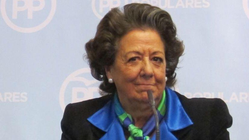 Rita Barberá, otra vez señalada por la corrupción: aparece en una lista de cobros en negro
