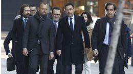 Bartomeu y Rossell, mudos ante la Audiencia Nacional por el 'caso Neymar'