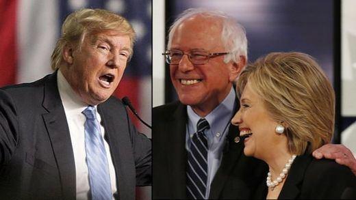 Ted Cruz se impone al fanfarrón Trump en Iowa y los demócratas Clinton y Sanders empatan