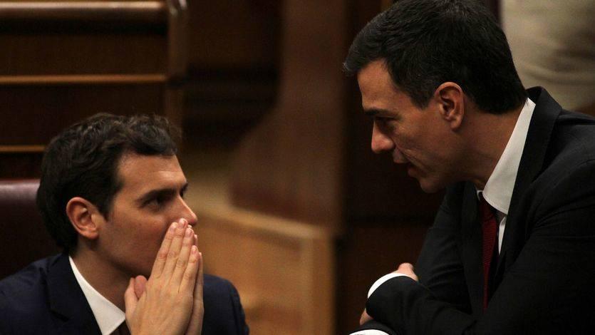 >> Rivera ve 'buena noticia' la candidatura de Sánchez pero le advierte que tendrá que contar con el PP