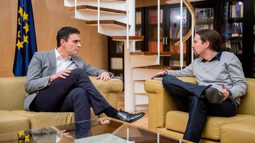 Desencuentro entre Pedro Sánchez y Pablo Iglesias por las negociaciones paralelas con Ciudadanos