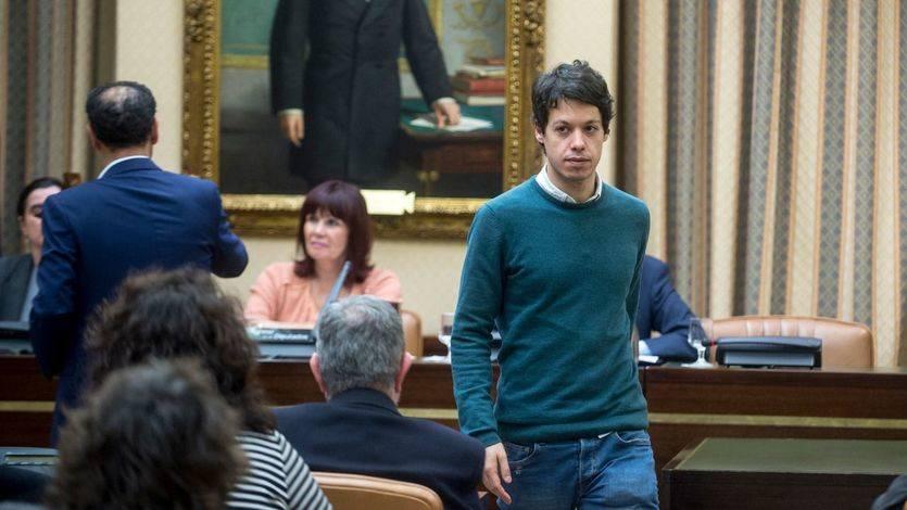 Segundo González, responsable de finanzas de Podemos, en el Congreso