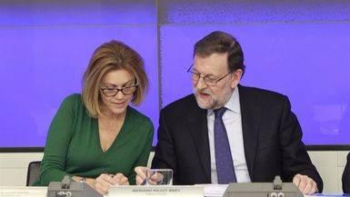Mariano Rajoy Mar�a Dolores de Cospedal, esta tarde en la reuni�n del Comit� ejecutivo Nacional del PP.