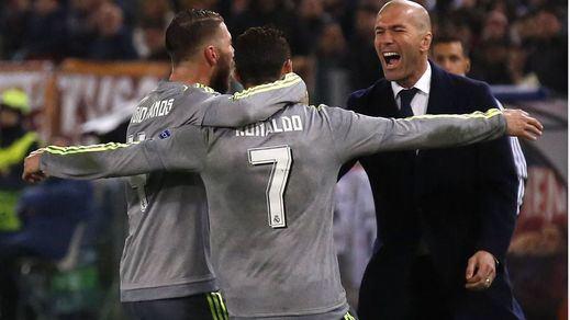 Champions: la pegada del Real Madrid saca en Roma medio billete para los cuartos de final (0-2)