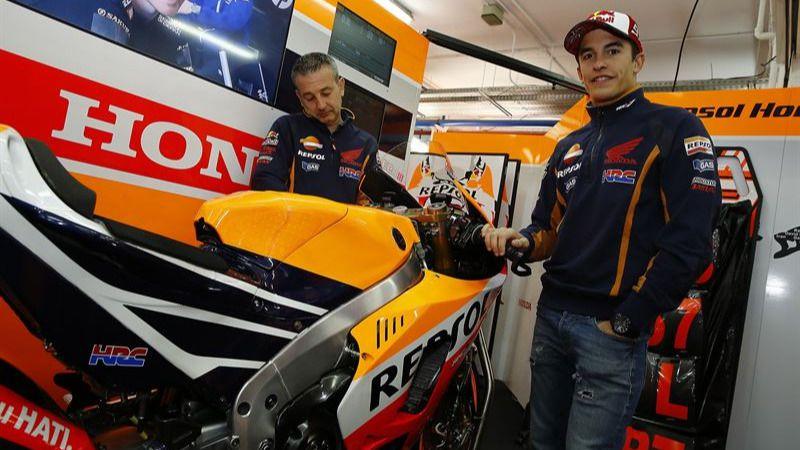Márquez se declara 'especialmente contento' con su Honda para 2016