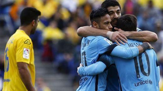 Las Palmas hace sudar la camiseta al Barça en una misión imposible (1-2)