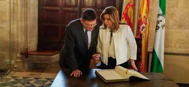 Ximo Puig y Susana D�az preparan en Valencia una semana decisiva para el futuro del PSOE
