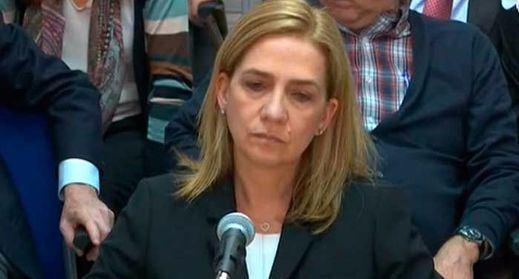 La infanta Cristina, 'colaboradora': se niega a responder más que a su abogado defensor
