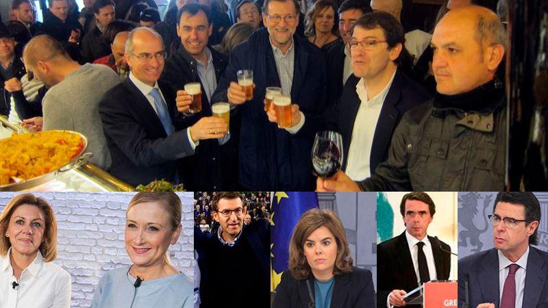 Mariano Rajoy y Javier Maroto, esta mañana en Salamanca con otros miembros del partido.