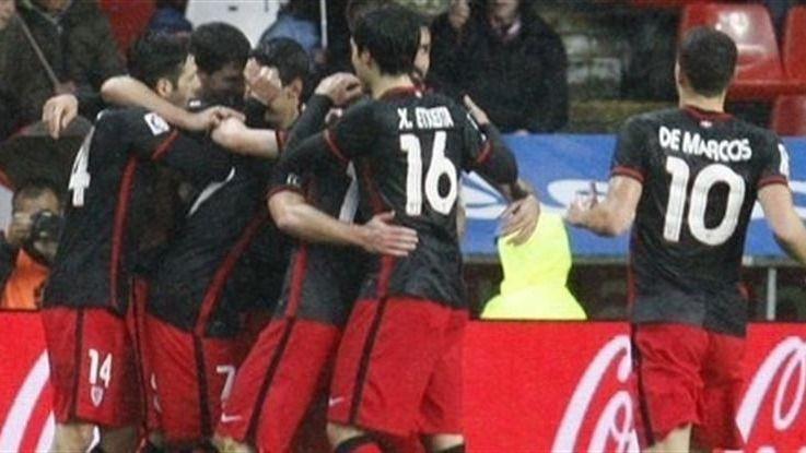 Liga: los 'leones' no necesitaron a Aduriz para merendarse a los 'yogurines' (0-2)