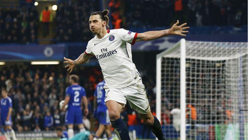 Champions: Ibrahimovic silencia Stamford Bridge y mete al PSG en cuartos (1-2)