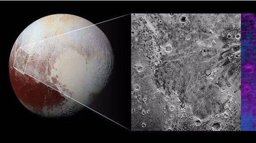 Un 'mordisco' en Plutón revela una capa de hielo de agua