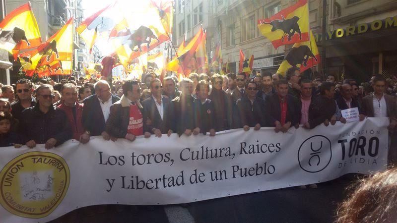 Imagen de la manifestación de Valencia.