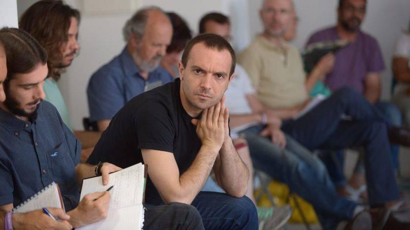 Luis Alegre en una reunión de Podemos Comunidad de Madrid en 2015