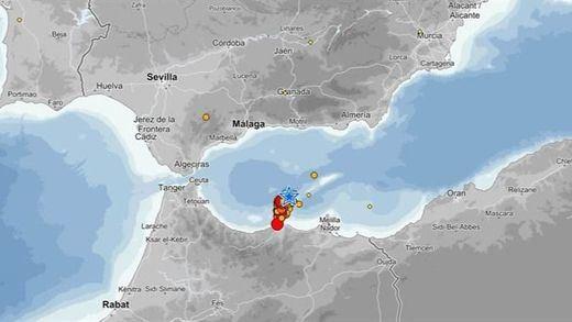 El terremoto de hoy en el Mar de Alborán y sentido en Málaga y Córdoba fue de 5,1 grados