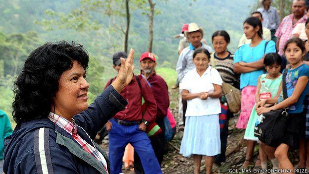 17-M: homenaje a Berta Cáceres, la líder indígena y ecologista asesinada en Honduras