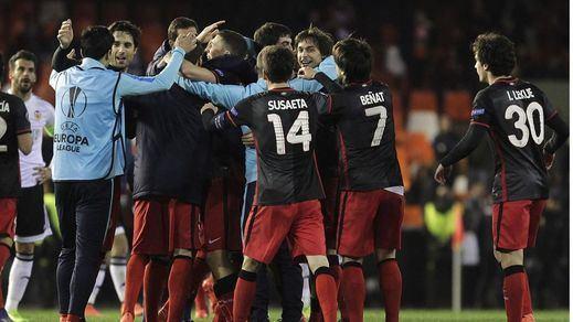 Athletic, que eliminó al Valencia, Sevilla y Villarreal se meten en cuartos de final de la Liga Europa
