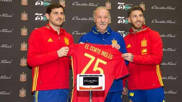 Iker Casillas, Vicente del Bosque y Sergio Ramos