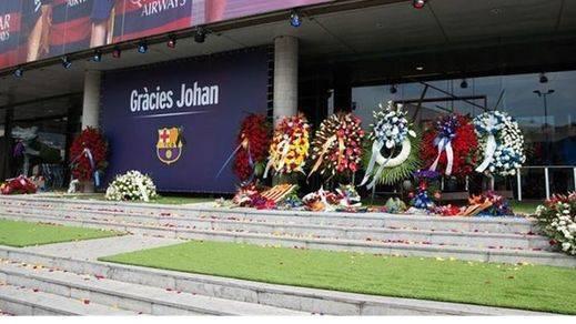 Los homenajes a Cruyff se cierran hoy con una reunión de excompañeros, amigos y familiares