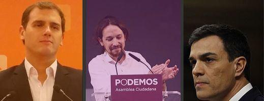 Ciudadanos y Podemos se culpan mutuamente mientras el PSOE intentó una paz imposible