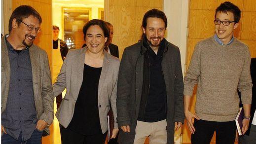 Ada Colau culpa al PSOE de sacrificar el Gobierno del cambio durante una visita a Madrid