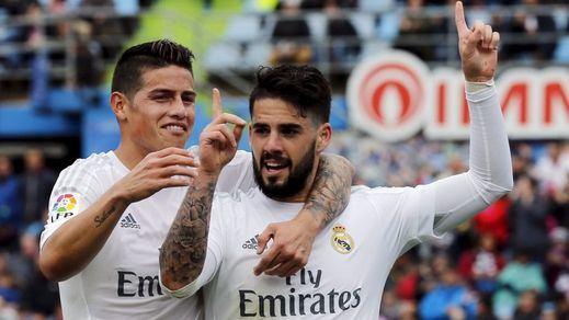 El Madrid le amarga la tarde a Esnáider y al Barcelona con una 'manita' al Getafe (1-5)