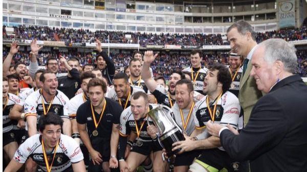 Felipe VI entrega la Copa del Rey de Rugby en Zorrilla ante 26.000 espectadores