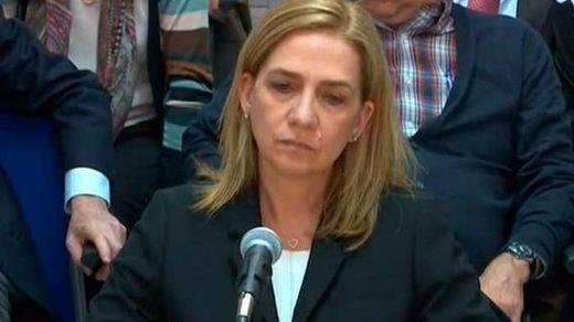 La infanta Cristina no se libra de la cuestionada Manos Limpias: el tribunal decide mantener su acusación