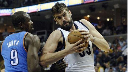 NBA: los Grrizzlies sin el 'jefe' Gasol, lesionado, caen a la primera en los play offs