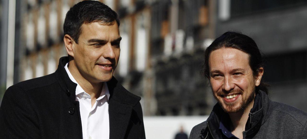 >> Sánchez e Iglesias convierten las elecciones en un plebiscito sobre su liderazgo