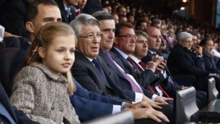 El debut de la princesa Leonor en el fútbol